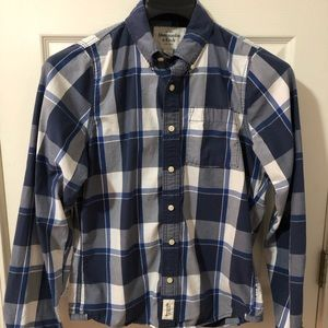 Abercrombie & Fitch Blue/White Plaid Button shirt